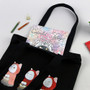 Red hood cat black shoulder tote bag