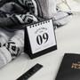 2018 Classic small spiral bound white desk calendar