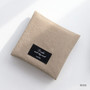 Beige - Plain secret daily cotton pouch