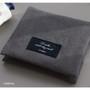 Charcoal - Plain secret daily cotton pouch