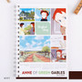 White - Anne of green gables spiral lined and grid notebook