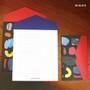 Black - Second Mansion Folding pattern letter paper