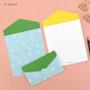 Sky blue -  Second Mansion Folding pattern letter paper