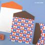 Blue & red - Second Mansion Folding pattern letter paper