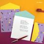 Purple - Second Mansion Folding pattern letter paper