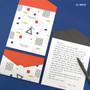 White - Second Mansion Folding pattern letter paper