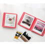 Coral pink - 2NUL Colorful Instax square slip in pocket photo album