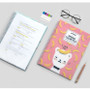 Spring pattern clear pockets document file holder
