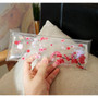 Red apricot blossom clear folding pencil case