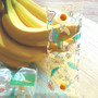 Banana - Banana and Ice cream clear folding pencil case