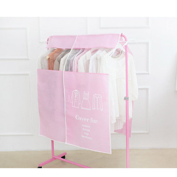 Clothes Suit Garment Storage Bags Dust Proof Cover Pastel Color