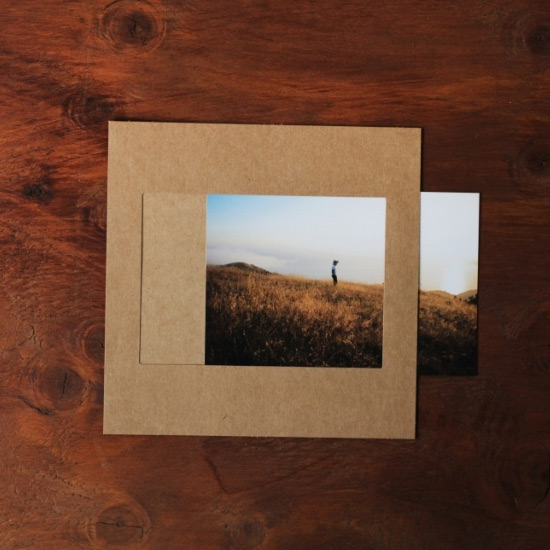 Moods&Views Square 4X6 kraft paper photo frame set of 15 sheets