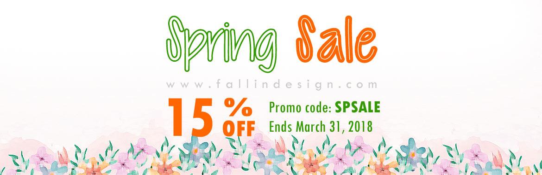 fallindesign spring sale 15% off