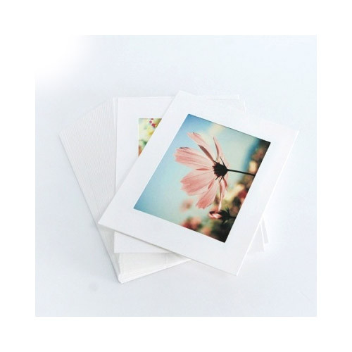 Moods&Views 4X6 white paper photo frame set of 30 sheets fallindesign