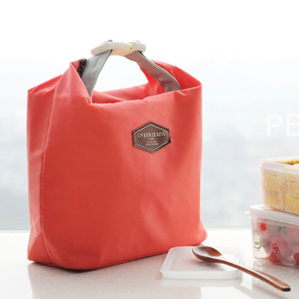 Iconic Insulated Lunch Bag Tote Pouch With Handle Peach