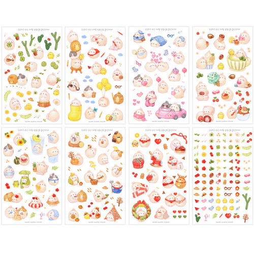 bookcodi molang cute deco transparent sticker set ver 4