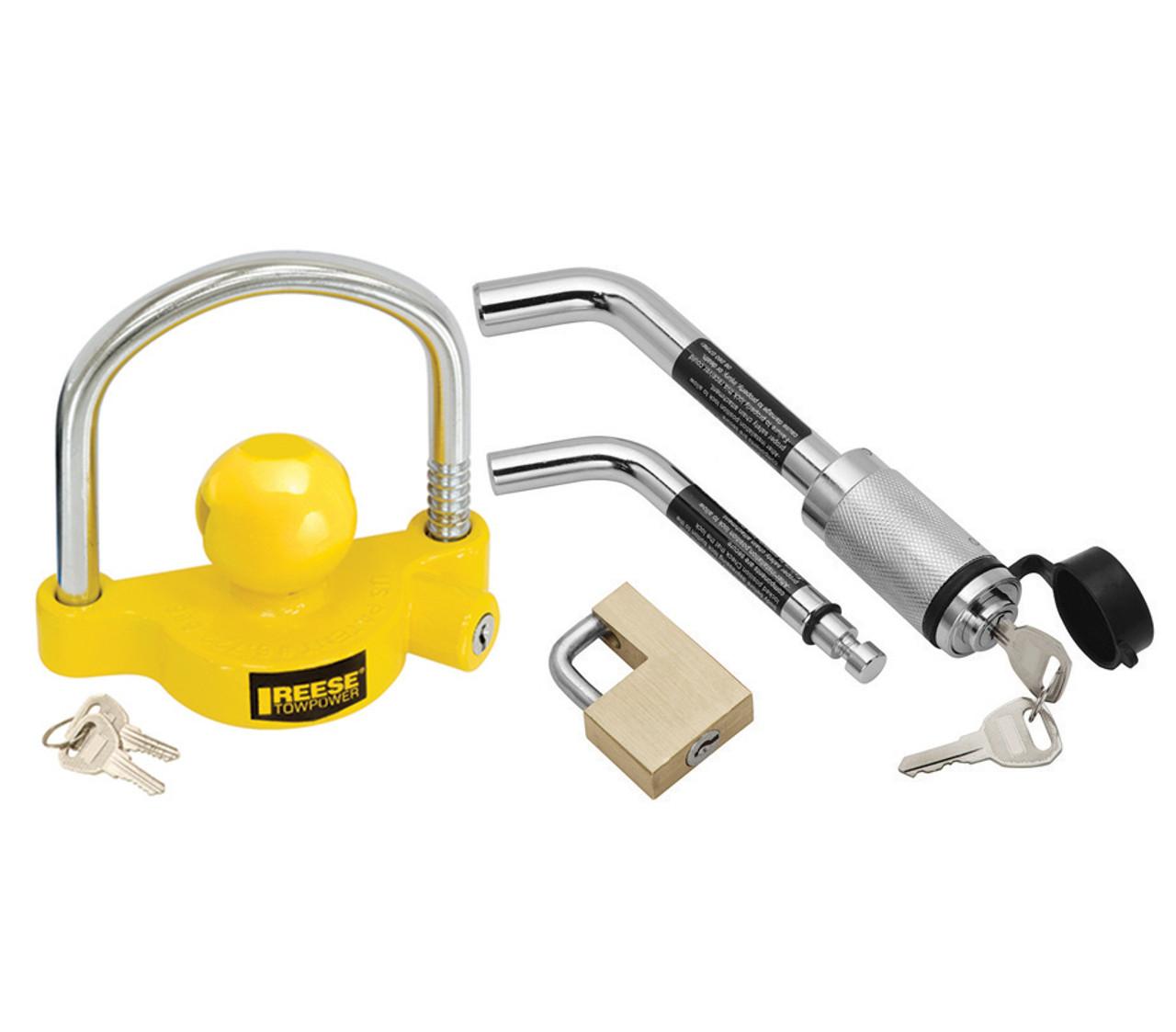 Ball Lock Lift : Trailer coupler and hitch lock keyed alike kit