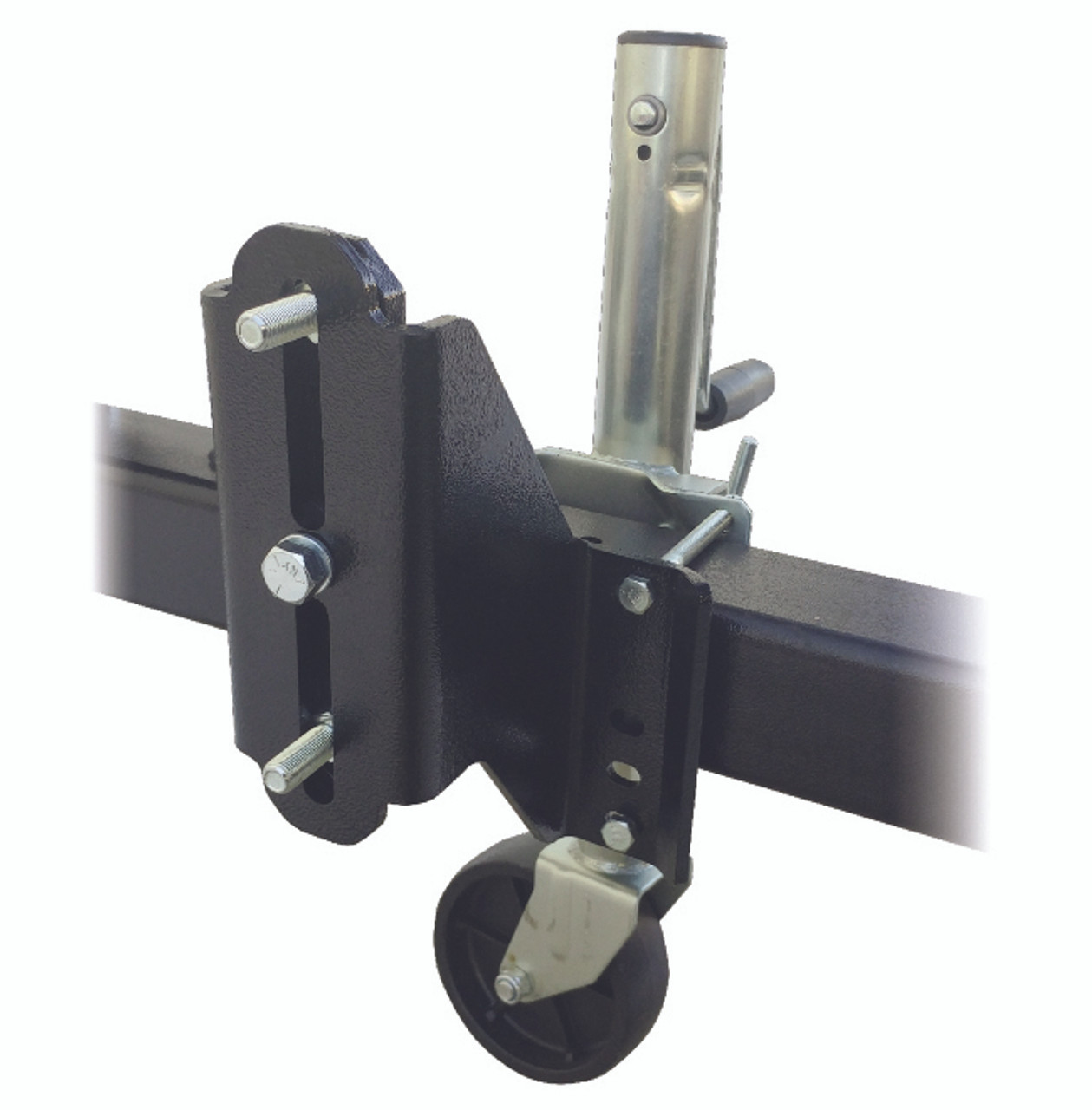 15853-76 --- Universal Jack Mounted Spare Tire Carrier - Bolt On