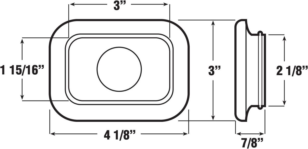 127-18 --- Peterson Rectangular Replacement Grommet