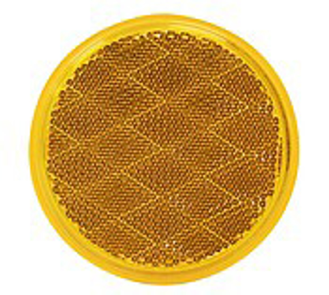 475A --- Round Amber Reflector - Quick Mount