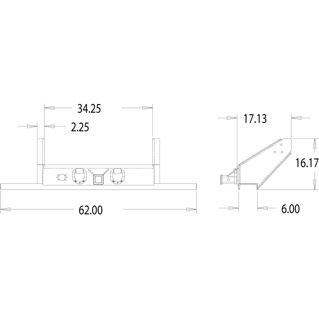 1809055 Flatbed Dump Hitch Bumper With 2 Receiver Tube Croft Wiring Diagram