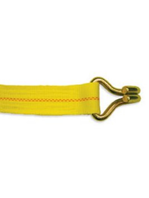 """WS330JH-Y --- 3"""" Cargo Winch Strap with J Hook"""