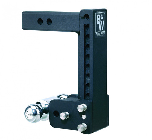 "MAGNUM-BLK12 --- B&W Tow and Stow Adjustable Two Ball Mount, 9"" Maximum Drop"