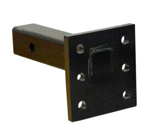 BW14001 --- Receiver Mounted Pintle Hook Adapter - 6 Holes - 16,000 lb Capacity - Made in the USA