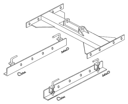 5993 --- Demco Flat Deck Slider Rail Assembly 24-SLF-21