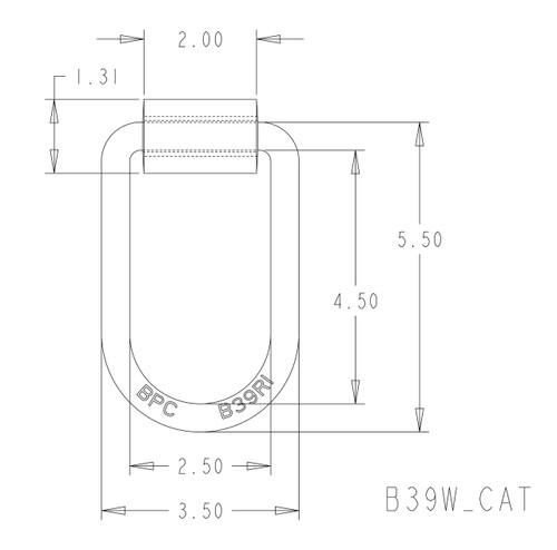 """DRING-412W --- D-Ring - 1/2"""" Ring Diameter"""