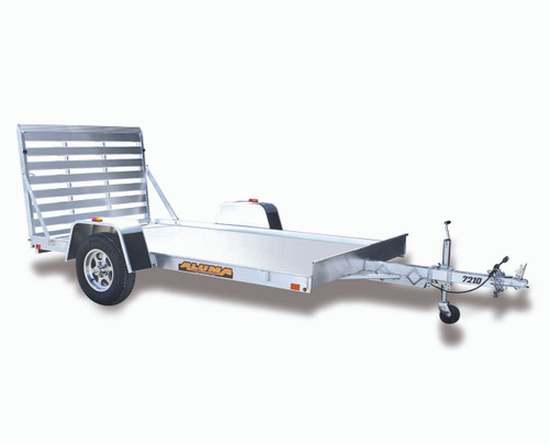 "AL6810 --- 68"" x 10' Aluminum Utility Trailer with Ramp Gate"