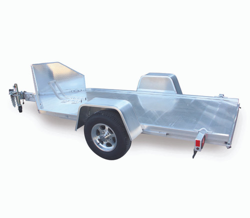 """ALMC10 --- 51"""" x 10.5' Aluminum Motorcycle Trailer with Ramp Gate"""