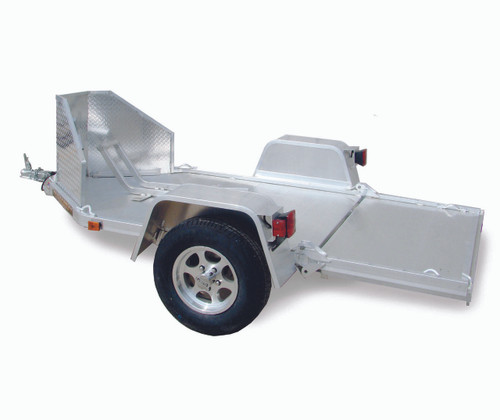 "ALMC1F --- 51"" x 106"" Aluminum Motorcycle Trailer with Folding Bed"
