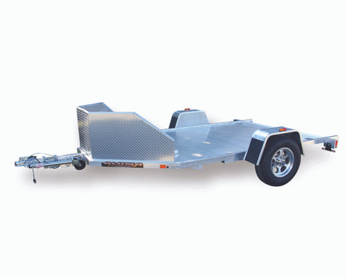 "ALMC210 --- 77"" x 138"" Aluminum Two Motorcycle Trailer with Ramp"