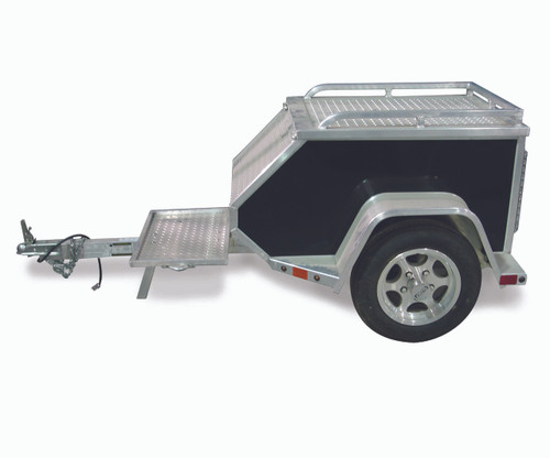 "ALMCT --- 45"" x 27"" Aluminum Trailer to Pull Behind Motorcycle"