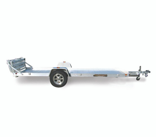 "AL8114B --- 81"" x 14' Aluminum Utility Trailer with Bi-Fold Rear Gate"