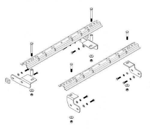 8552028 --- demco rail kit - premier or ultra series