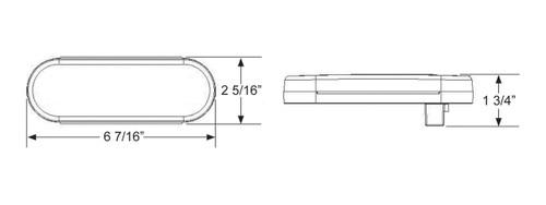 LED421R10 --- Oval Sealed LED Turn Light  - 10 Diodes