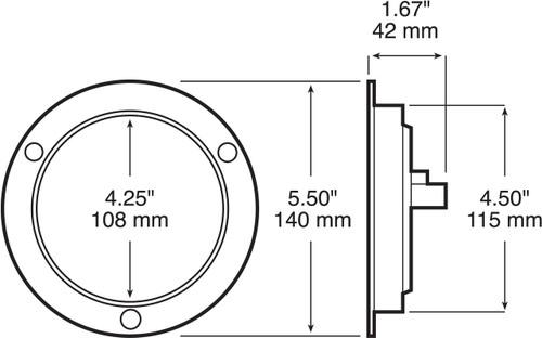 led426kr7-f --- round 4 u0026quot  sealed led tail light kit
