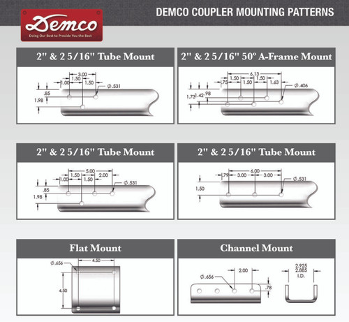 "13689-95 --- Demco eZ Latch Coupler - 10,000 lb Capacity - 2"" - Zinc"