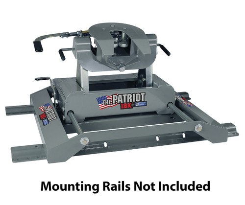 BW3270 --- B & W Patriot 18K Slider Fifth Wheel Hitch - Made in the USA