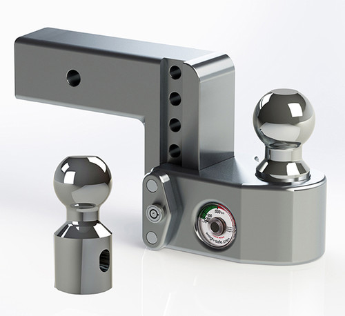 """WS425 --- 2.5"""" Weigh Safe Adjustable Aluminum Ball Mount with Scale, 4"""" Drop"""