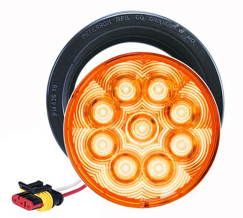 """LED817SKA-9 --- Amber LED LumenX® 4"""" Round Strobe Light kit"""