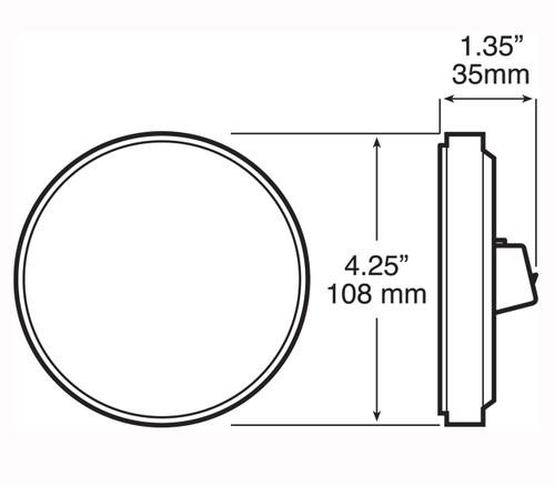 """LED817SKR-9 --- Red LED LumenX® 4"""" Round Strobe Light kit"""