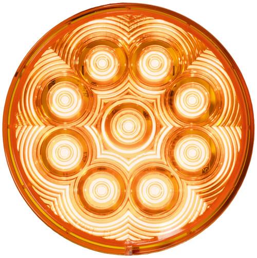"""LED817SA-9 --- Amber LED LumenX® 4"""" Round Strobe Light"""