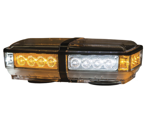 8891052 --- LED Mini Magnetic Light Bar - 12 Amber and 12 Clear Diodes