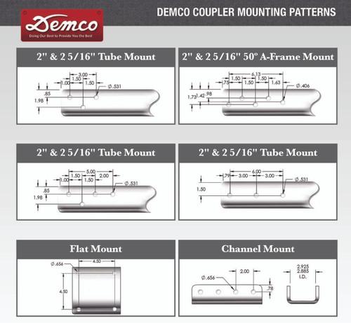 """15080-81 --- Demco Plate-Mount 2"""" Coupler - 10,000 lb Capacity - Black"""
