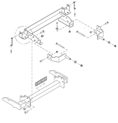 HN25012815 --- Hiniker Quick-Hitch Plow Mount Kit for Chevy/GMC 2500/3500