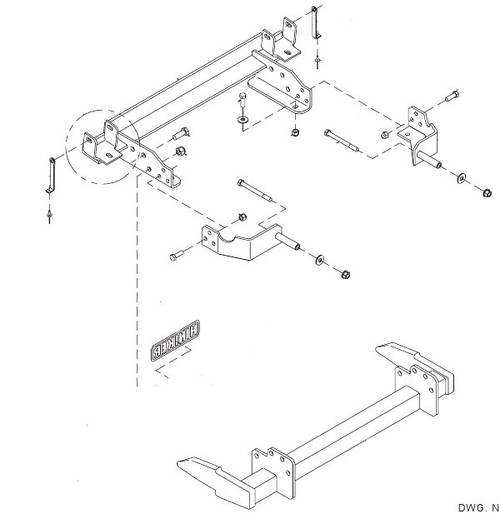 HN25012870 --- Hiniker Quick-Hitch 2 Plow Mount Kit for Chevy/GMC 2500/3500