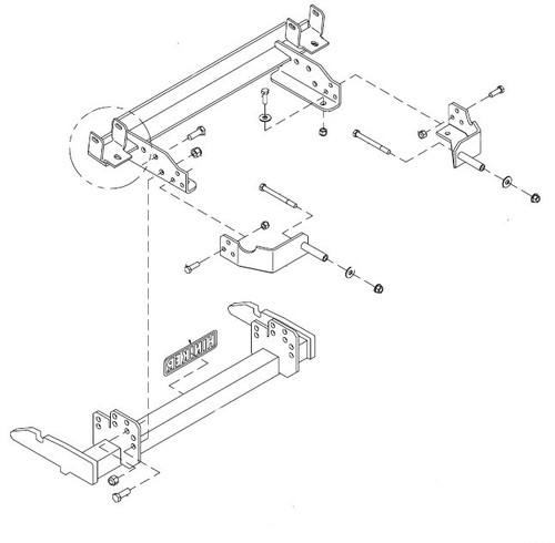 HN25013354 --- Hiniker Quick-Hitch 2 Plow Mount Kit for Chevy/GMC 2500/3500